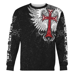 Jesus Old English Red Cross Long Sleeves / S Qm1369