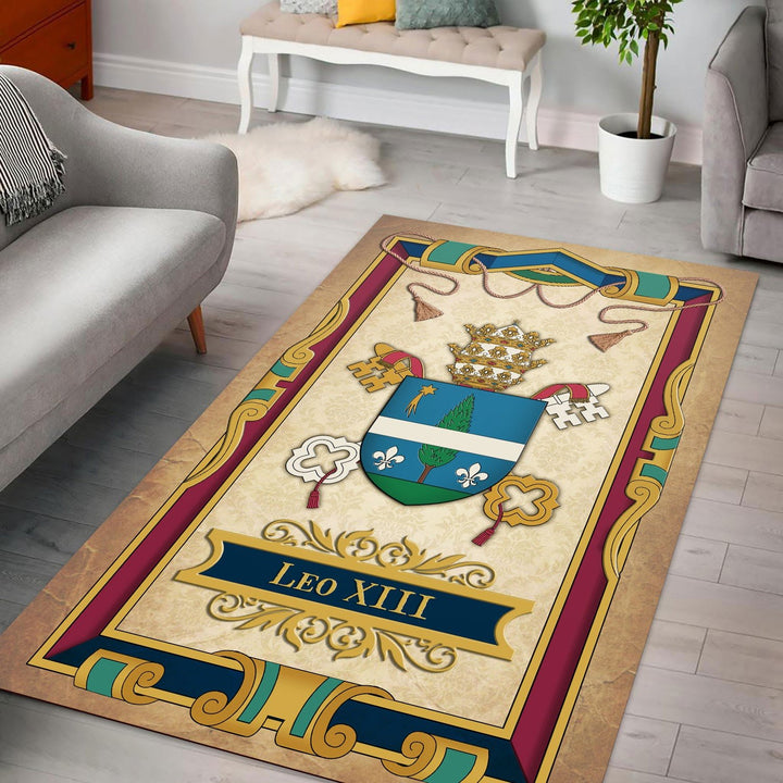 Coat Of Arms Pope Leo Xiii Rug / Small (3 X 5 Feet - 35 59 Inches) Qr1396