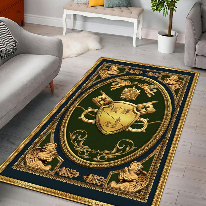 Benedict Xv Coat Of Arms Rug / Small (3 X 5 Feet - 35 59 Inches) Qr1319