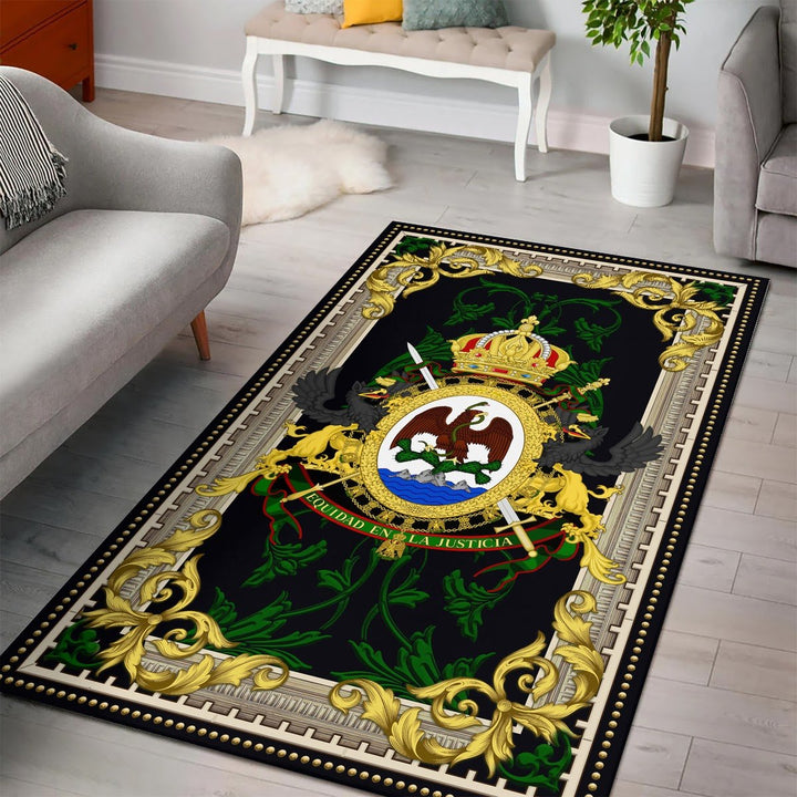 Coat Of Arms Mexico (1864-1867) Qm1383 Rug / Small (3 X 5 Feet - 35 59 Inches)