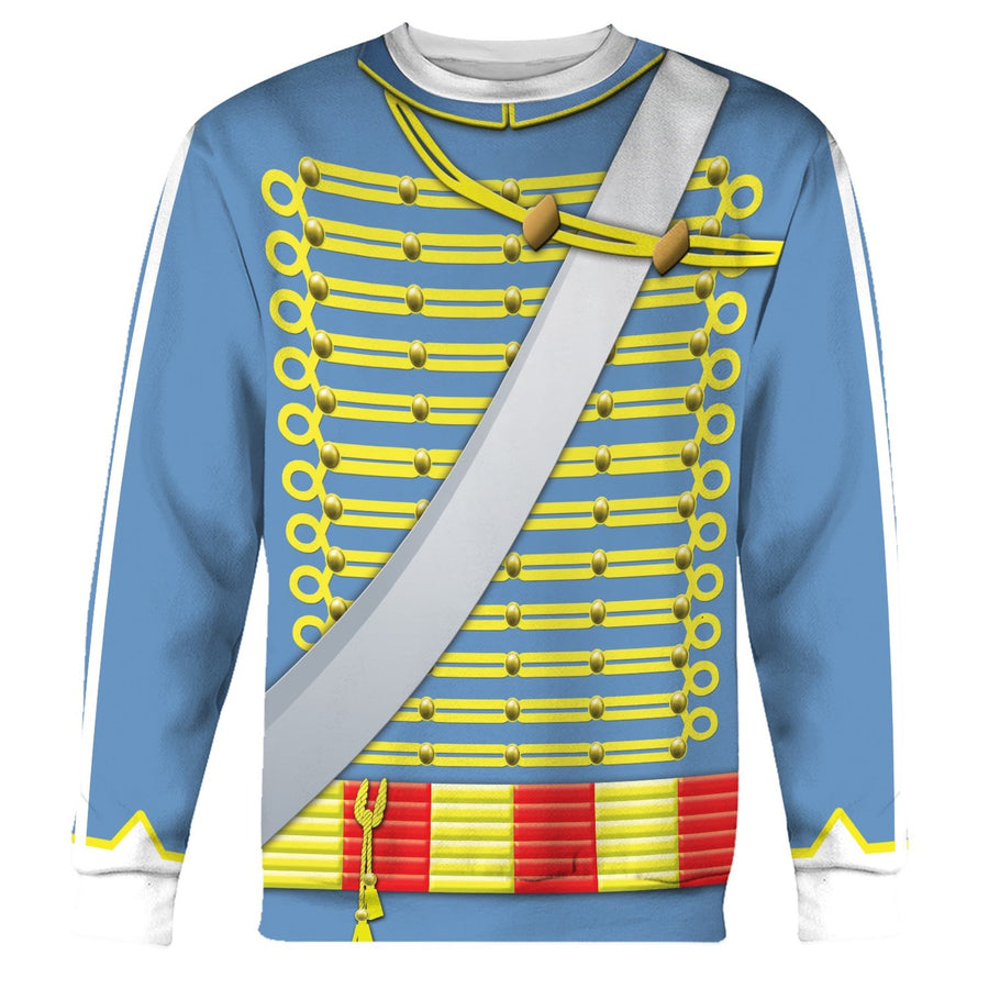 Napoleonic Uniforms Of The French Hussars Long Sleeves / S Hi130220