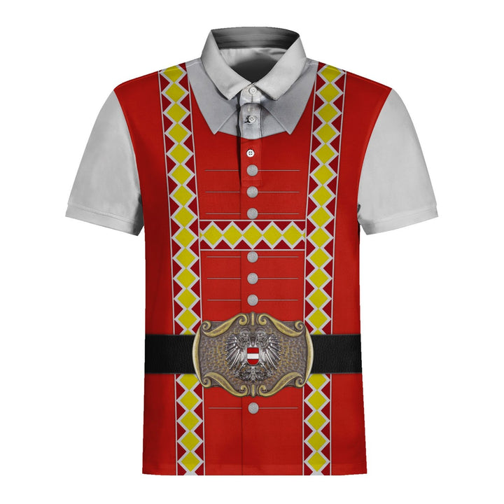 Traditional Austrian Costume Polo Shirt / S G267