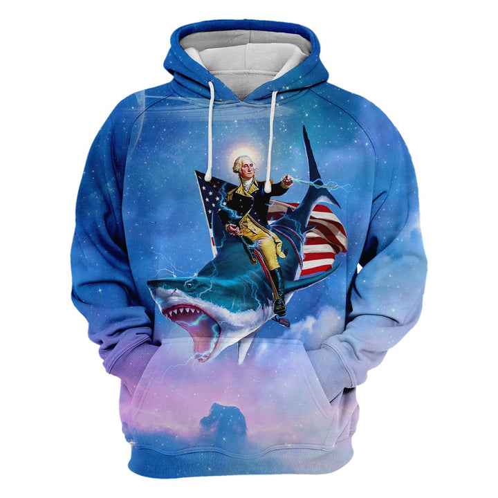 George Washiongton Shark Hoodie / S Apparel