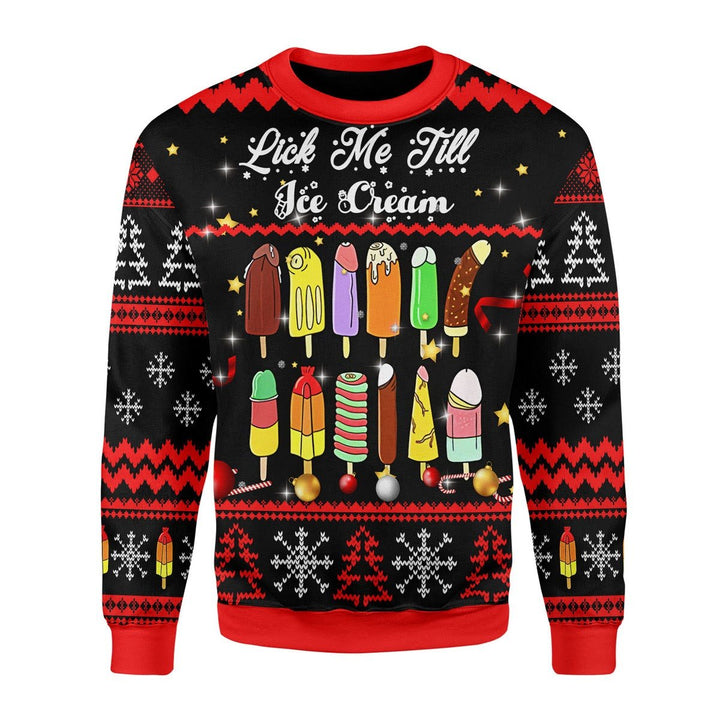 Lick Me Till Ice Cream Ugly Christmas Sweater / S Qm1712