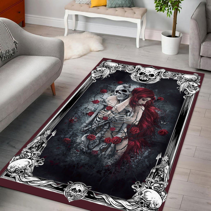 Hated By Many Loved Plenty Heart Rug / Small (3 X 5 Feet - 35 59 Inches) G63