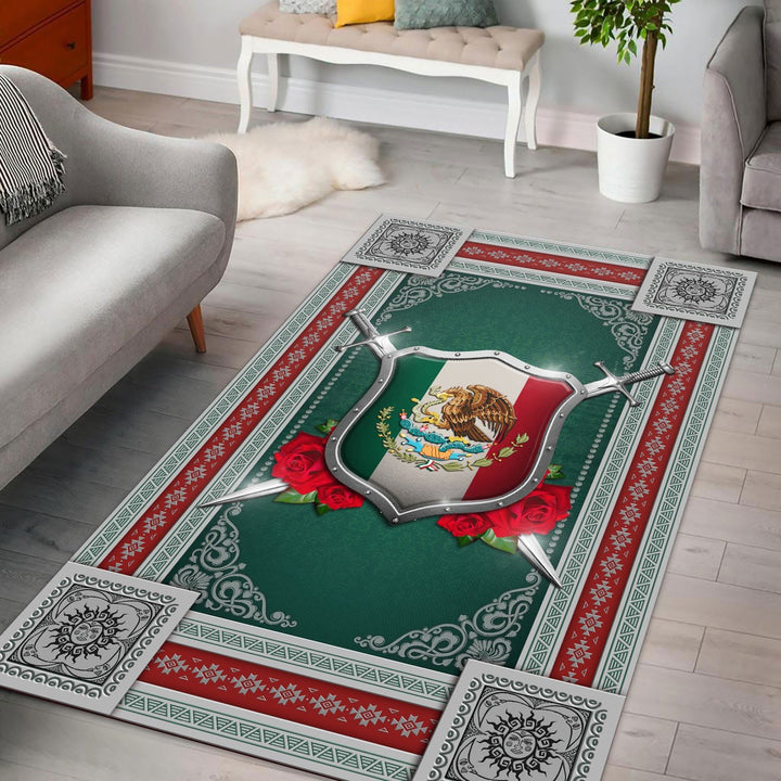 Mexico Coat Of Arms Rug / Small (3 X 5 Feet - 35 59 Inches) Qm1266