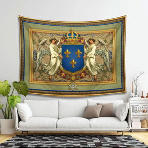 Royal Coat Of Arms France Tapestry - 4 Holes / S (27.6 X 39.4 Inches 2.3 3.2 Feet) Qm1158