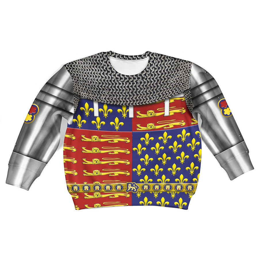 Edward The Black Prince Armor Kid Long Sleeves / Toddler 2T Khp296