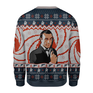 Sean Connery Ugly Christmas Sweater Kd504