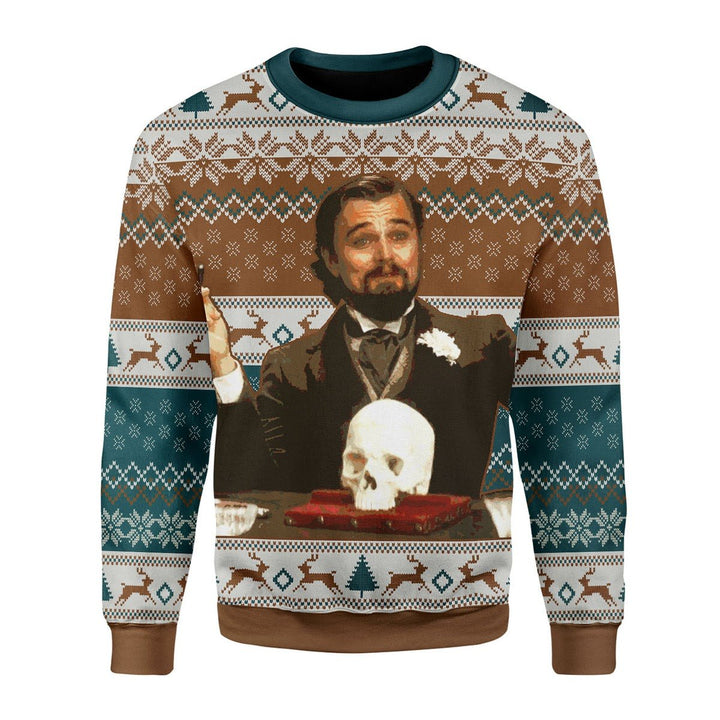 Leo Dicaprio Django Unchained Merry Chrismas Chrristmas Sweater / S Qr1763