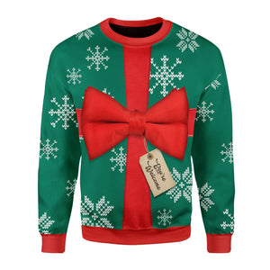 Present Ugly Christmas Sweater Long Sleeves / S Qm1583