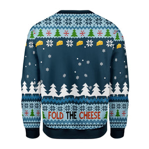 Fold The Cheese Ugly Christmas Sweater G696