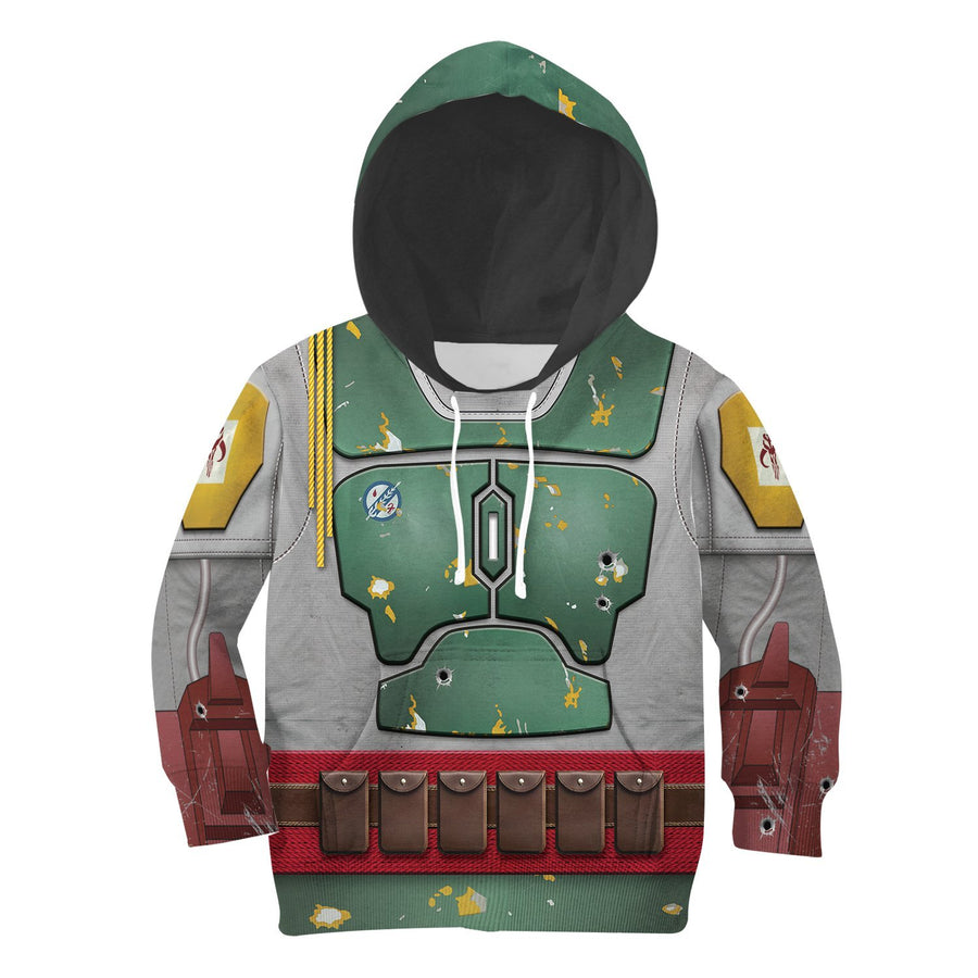 Kid B Fett All Over Print Kidhp26 Hoodie / S