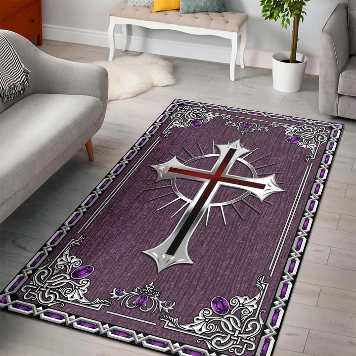 Gothic Cross Rug / Small (3 X 5 Feet - 35 59 Inches) Vn881