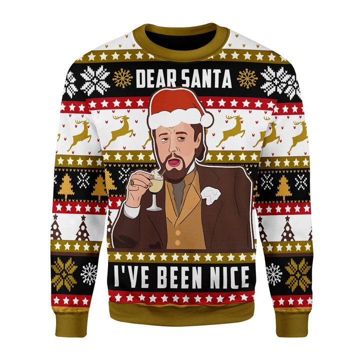 Leo Ive Been Nice Santa Ugly Christmas Sweater Chrristmas / S Kd563