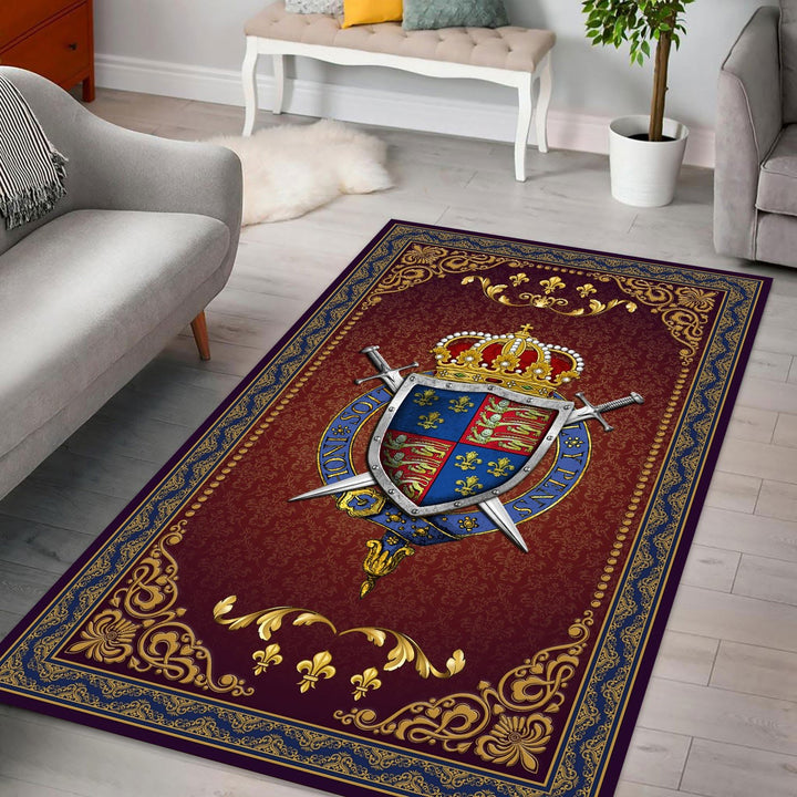 Henry V Coat Of Arms Rug / Small (3 X 5 Feet - 35 59 Inches) Qm1423