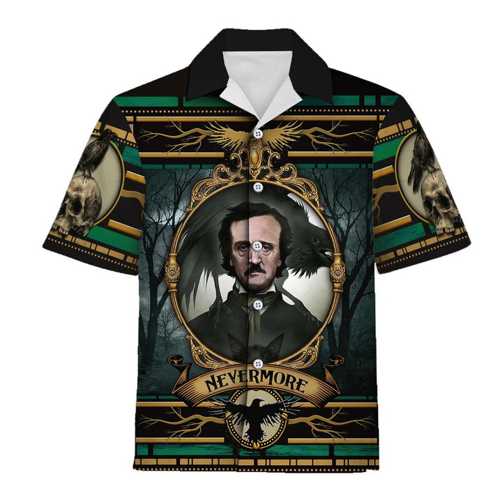 Edgar Allan Poe Nevermore Hawaiian Shirt / S Qm845