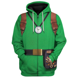Tingle All Over Print Ga113201 Zip Hoodie / S