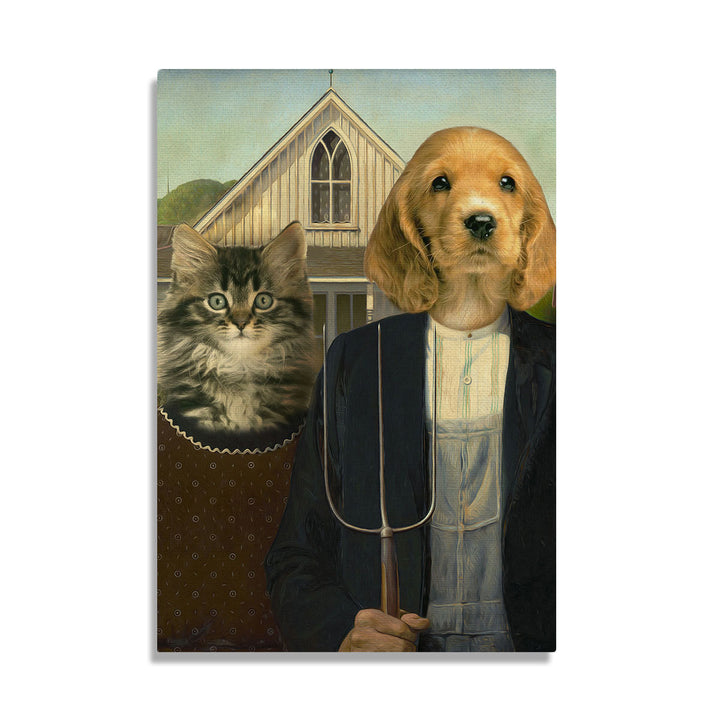 American Gothic Pets - Custom Pet Canvas
