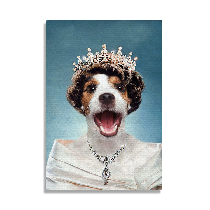 Queen Elizabeth II Of England - Custom Pet Canvas