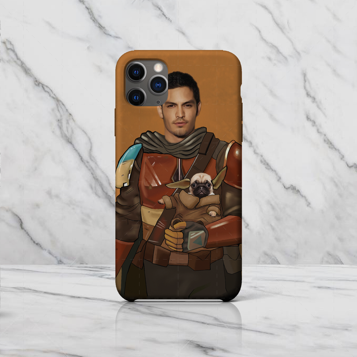Mandalorian And Baby Yoda Custom Phone Case