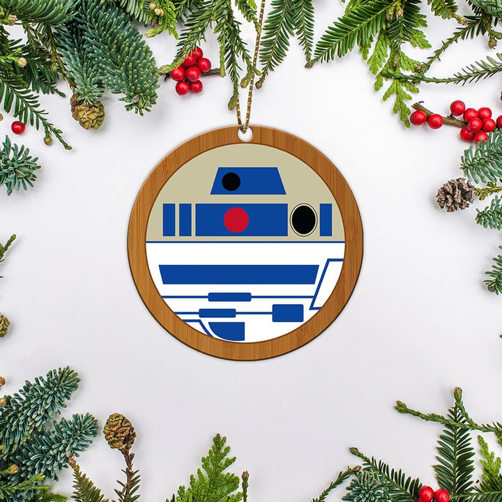R2 D2 Star Wars Christmas Ornaments Wood Ornament ( 9 X Cm - 3.5 Inches) / Pack 1 Em004