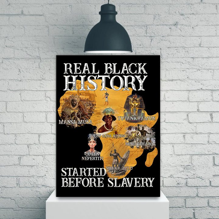 Real Black History Started Before Slavery Vertical Canvas