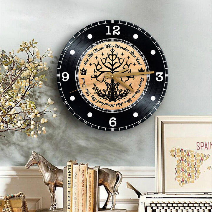 Deep Roots Are Not Reached By The Frost Wooden Clock