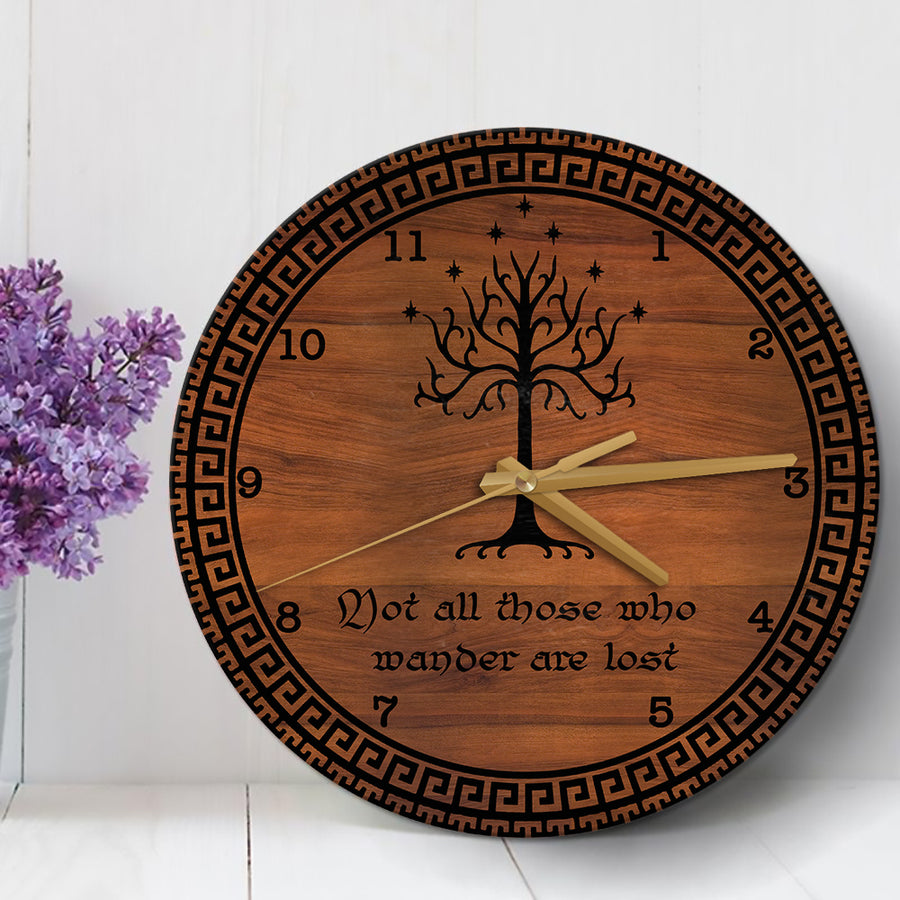 Not All Those Who Wander Are Lost Wood Clock