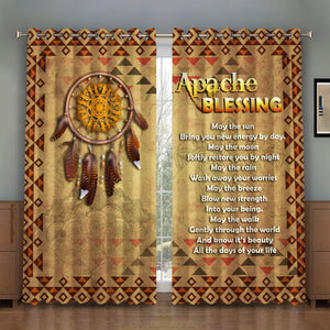 Apache Blessing Window Curtains Vn105 Curtains / A (W42*l63)