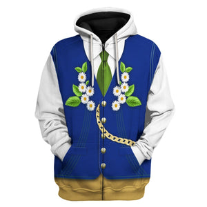 Swedes In National Costume Zip Hoodie / S Vn399