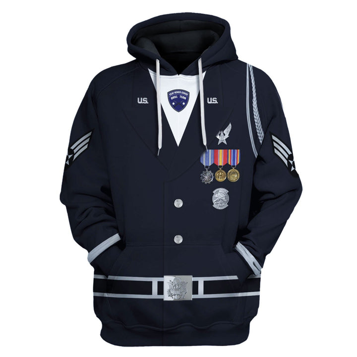 Us Air Force Honor Guards Hoodie / S Vn328