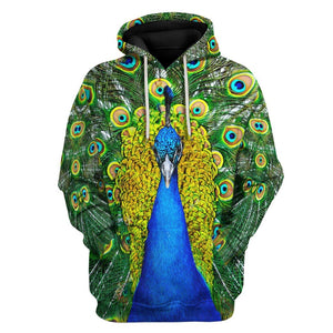 Peacock Fleece Hoodie / S Pc01