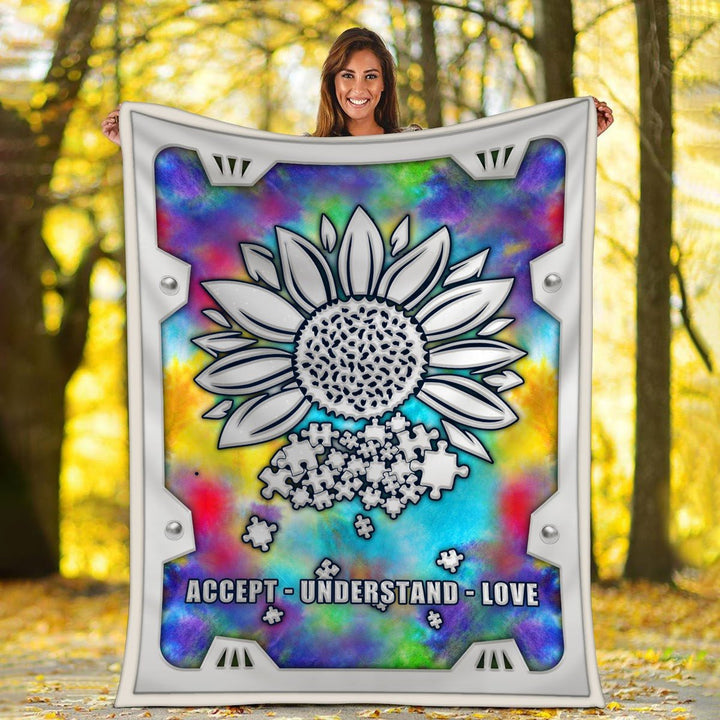 Autism Sunflower Blanket / S (51 X 59 Inches - 4 5 Feet ) Kd301