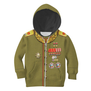 Kqm605 Joseph Stalin Russia Kid Zip Hoodie / Toddler 2T