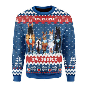 Ew People Ugly Christmas Sweater / S Kd425