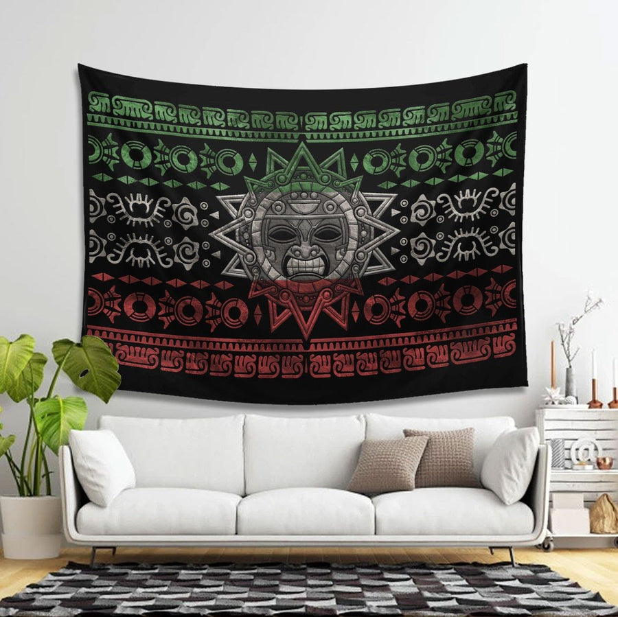 Aztec Tapestry - 4 Holes / S (27.6 X 39.4 Inches 2.3 3.2 Feet) Qm1437