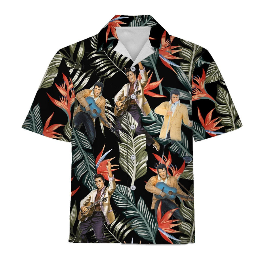 Qm842 Elvis Presley Hawaiian Shirt / S
