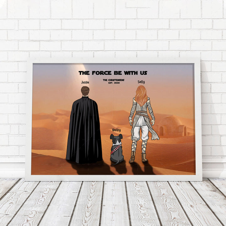 QM2340 Star Wars Family Poster - Custom 3 Name Family
