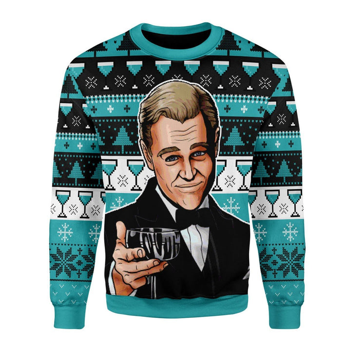 Leonardo Dicaprio Wine Glass Meme Ugly Sweater Christmas / S Qr1693