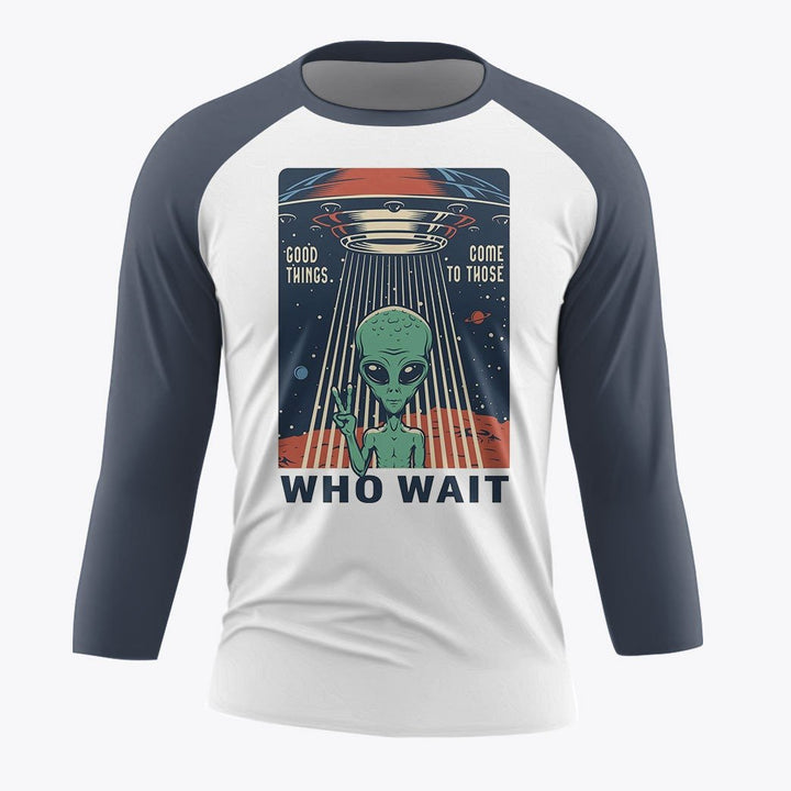 Good Things Come To Those Who Wait 3/4 Sleeve Raglan / Xs Kd846