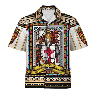 Richard I Of England Stained Glass Hawaii Shirt / S Hp302