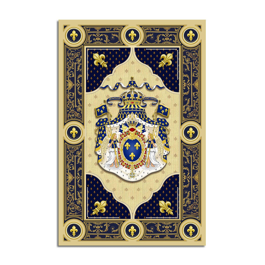 Louis Xiv Coat Of Arms Rug Qm1341