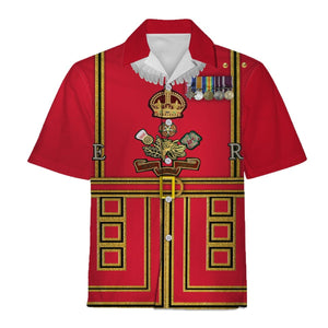 Beefeaters Tower Of London Hawaii Shirt / S Hp366