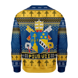 Pius Vii Coat Of Arms Ugly Sweater Qm1552