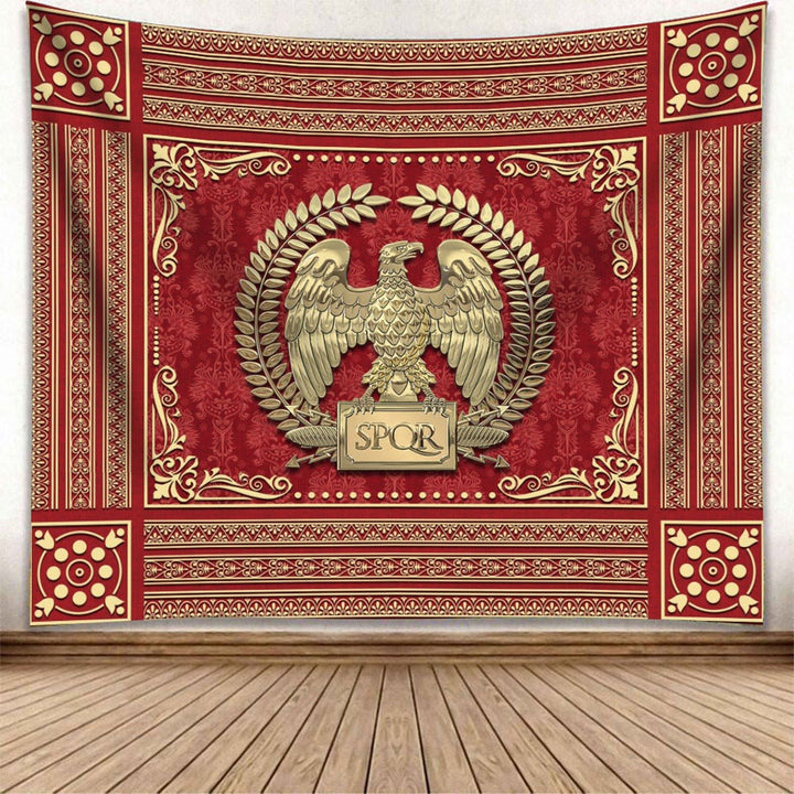 Roman Empire Tapestry Carpet - 2 Holes / S (29.5 X 35.4 Inches 2.5 X 3 Feet) Qm1428