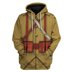 Ww2 French Empire Soldiers Zip Hoodie / S Vn200