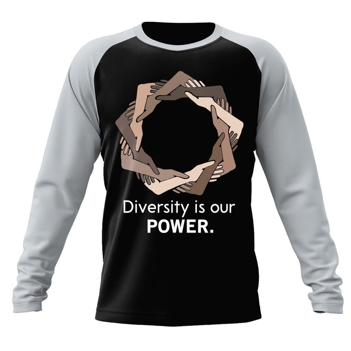 Diversity Is Our Power Long Sleeves Raglan / Xs Bn23