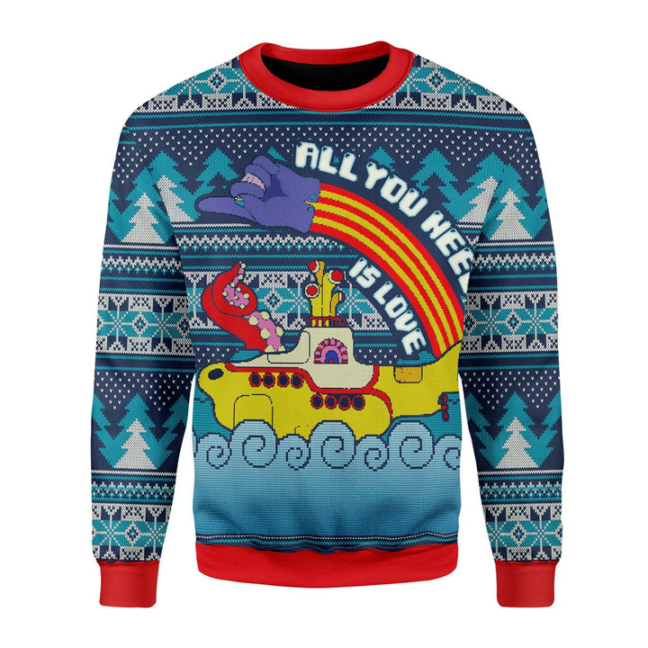 All You Need Is Love Ugly Sweater Christmas / S Qr1687