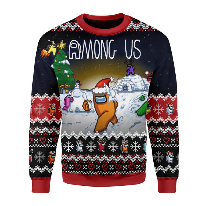 Among Us Christmas Ugly Sweater / S G238